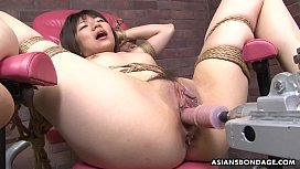 Tied up Japanese pornstar...