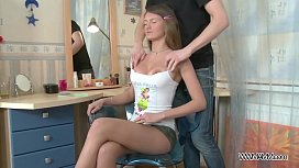 Handcuffed Teen Squirts After...