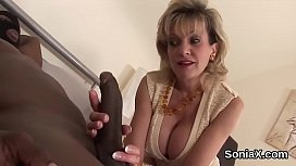 Unfaithful british milf lady sonia unveils her monster tits