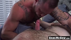Muscle daddy barebacking with...