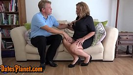 Chubby Big Natural Breast Milf Gets Rough Fucked