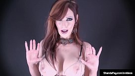 Canadian Cougar Shanda Fay Oils &amp_ Wets While Dildo Drilling!