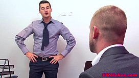 Muscular british gay office...