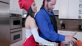 Cooks And Cocks- Dads And Daughters- Giana Gem And Savannah Six