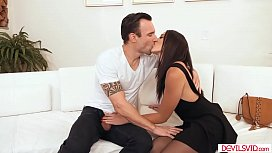 Brunette babe assfucked by bffs husband