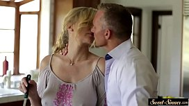 Taboo stepmom fucked and...