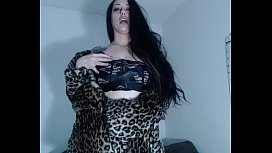 Cum in heels and fur,and Leana'_s hairy pussy!