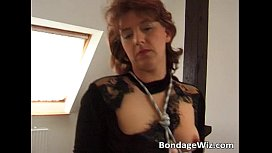 Fetish action with two mature woman slut
