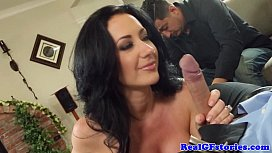 Cuckolding busty housewife shows...