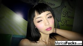Marica strips off her costume and plays with herself
