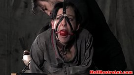 Chained sub toyed during roughsex by maledom