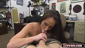 Horny hot babe getting...