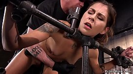 Hottie in bondage hairy pussy tormented
