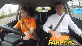 Fake Driving School Pigtailed...