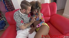 Ebony cutie Daizy Cooper drilled by Bryan Gozzling in her cunt
