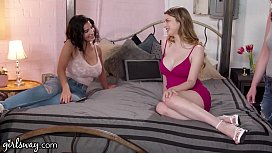 GIRLSWAY Bunny Colby Helps LaSirena69 To Fulfill Her Squirt Madness Fantasy