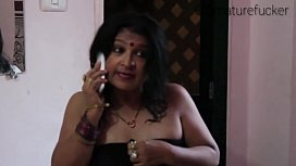 Indian old aunty boobs...