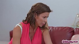 Alexis Fawx uses her tongue and mouth brings Laneys pussy to orgasm til she is satisfied