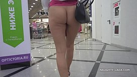 No panties shopping public...