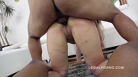 id 31842165: Briana Bounce gangland style 3on1 interracial DP in that Big Butt