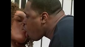 Beutiful black couple anal sex and deep penetration on the couch