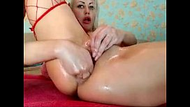 Slutty russian blonde fisting her dirty asshole on webcam - more webcam sluts on CAMSBARN.COM