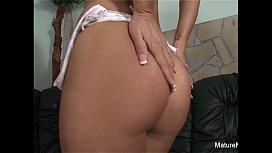 Mature blonde gets anal...