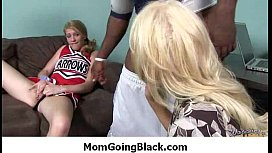 Big tits bounce on a black cock and mom joins in 11