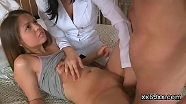 Man assists with hymen physical and poking of virgin chick