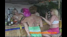 3 WHORE Grannies at a POOL BAR image