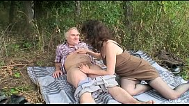 Outdoor Mature Couple Sex...