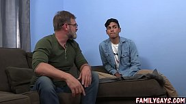 Gay dad punishes son...
