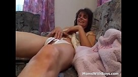 Horny Cougar Gives A...