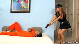Officer Janet Interracial 3some...