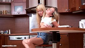 Passionate lesbian sex with...