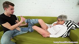 Granny wants a teen cock in her pussy