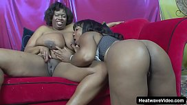 Incredible hooters on these thick black lesbos