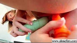Horny Girl Fill Her Holes With Dildo Toys vid-05