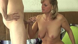 The blond stepmother teaches...