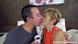 Lip licking granny fucked by y. man