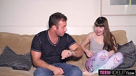 TEENFIDELITY Hairy French Teen Luna Rival Assfucked By Her Cousin