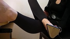 High heels and bare...
