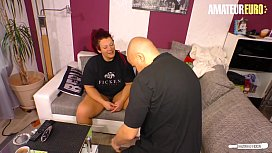 AMATEUR EURO - Horny German Housewife Lea Luestern Call The Neighbour To Fuck Her