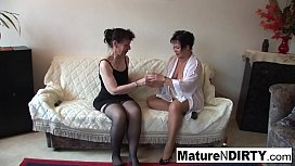 Sexy lesbian threesome action...
