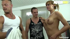 AMATEUR EURO - Mature Woman Mathilde Likes To Play Dirty With Horny Young Boys