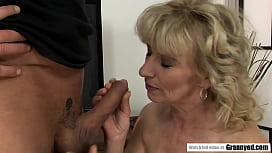 Blonde Wrinkly Whore Margarette Facefucked and plowed