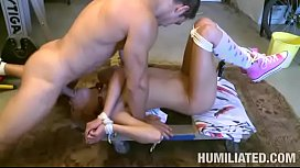 Teen gagged and bound gets fucked xxx image