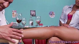 Ebony babes feet spunked...