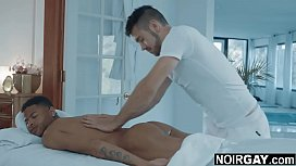 Interracial gay sex massage with happy ending
