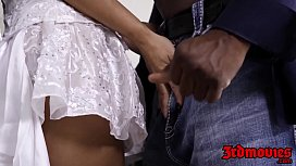 Interracial creampie with bigass...